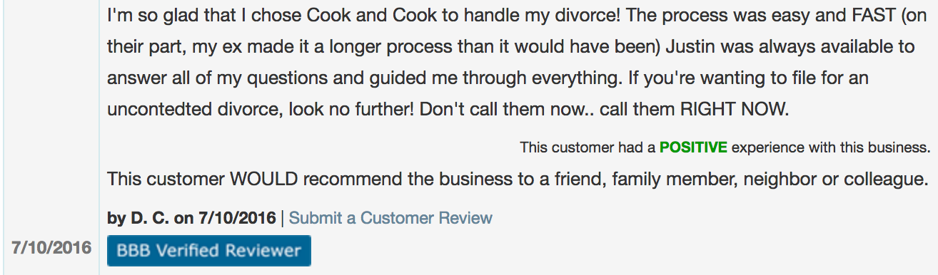 review of attorney megan cook 2016