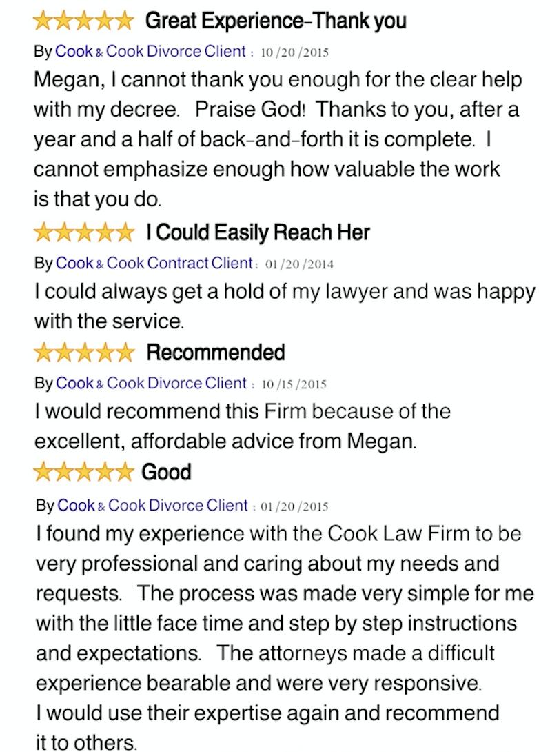 Cook & Cook texas divorce reviews