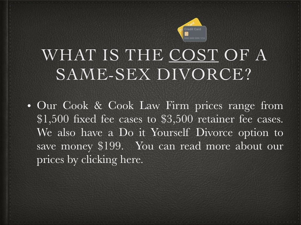 Same sex divorce cook cook law firm pllc how much does same sex divorce cost solutioingenieria Images