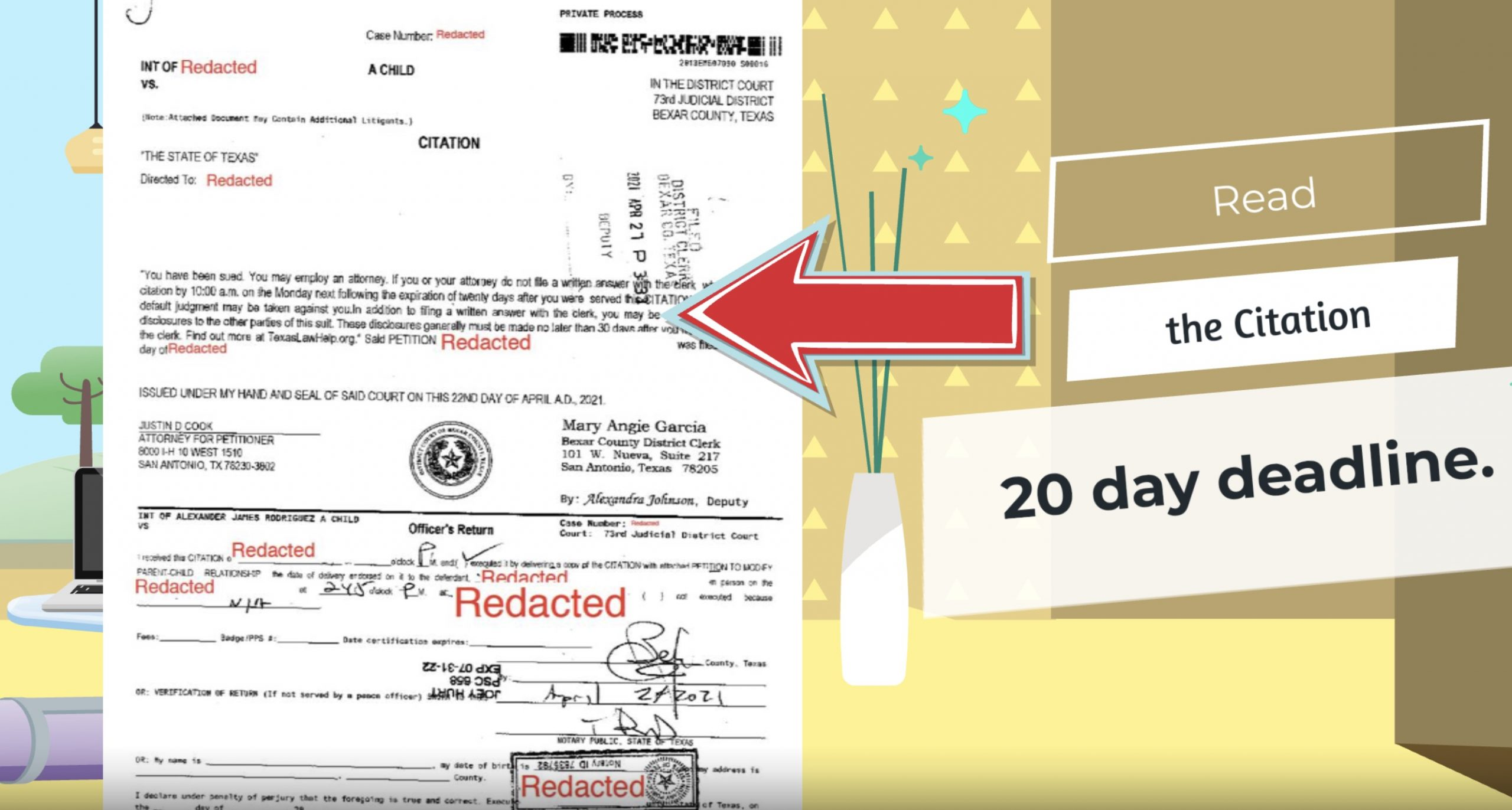 deadline for filing answer to divorce papers