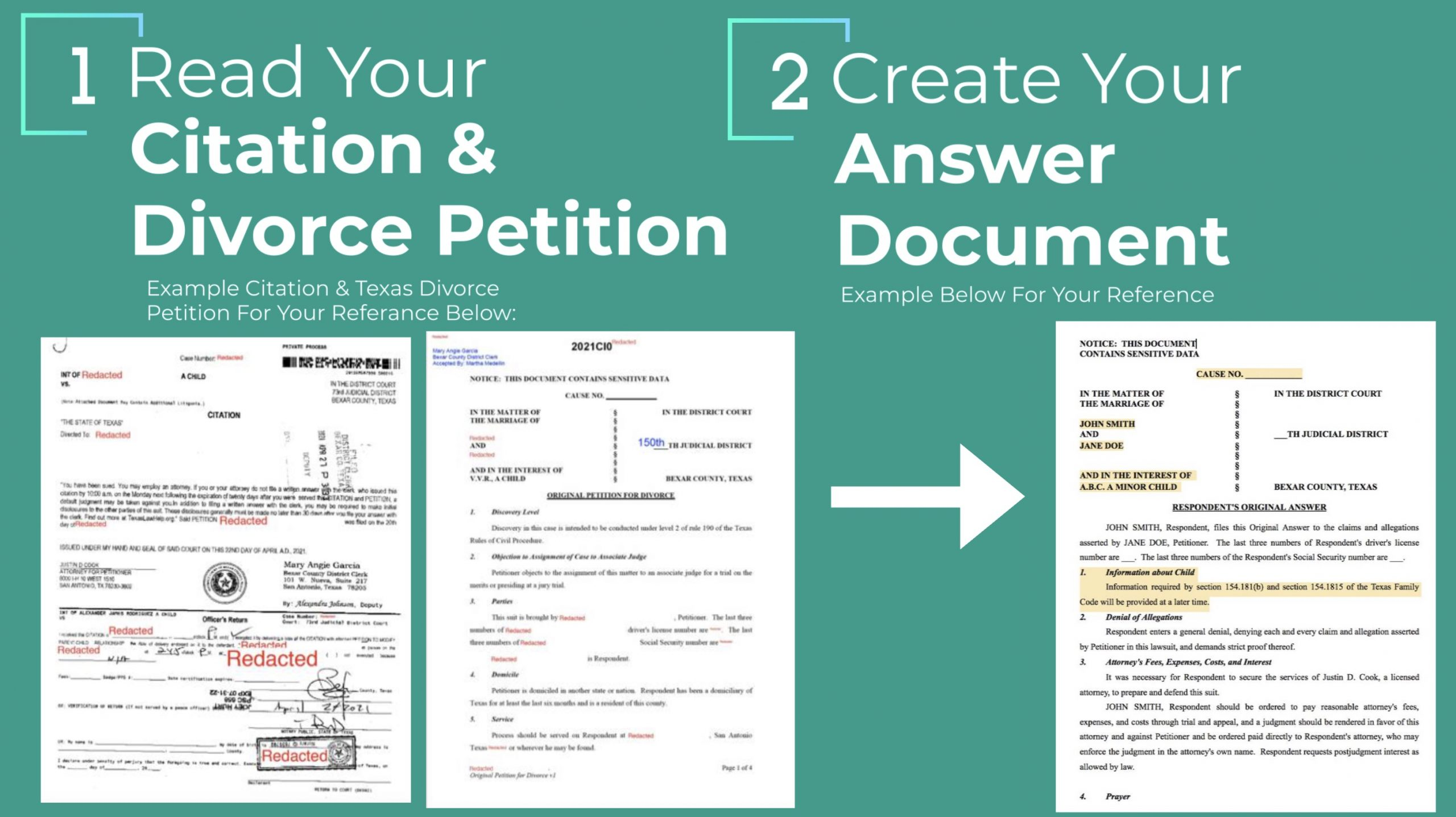 what to do when served divorce papers infographic