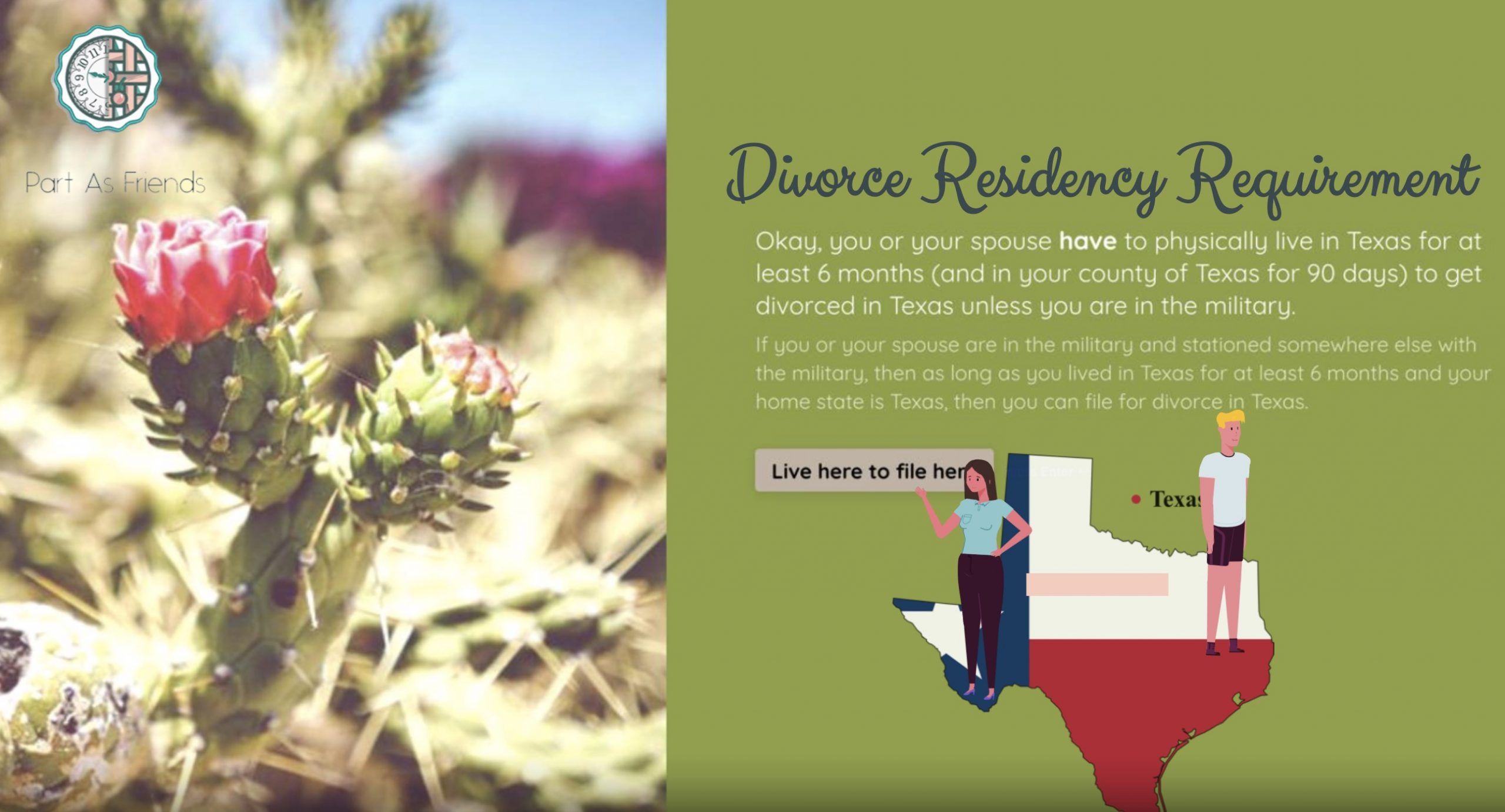 texas divorce residency requirement infographic