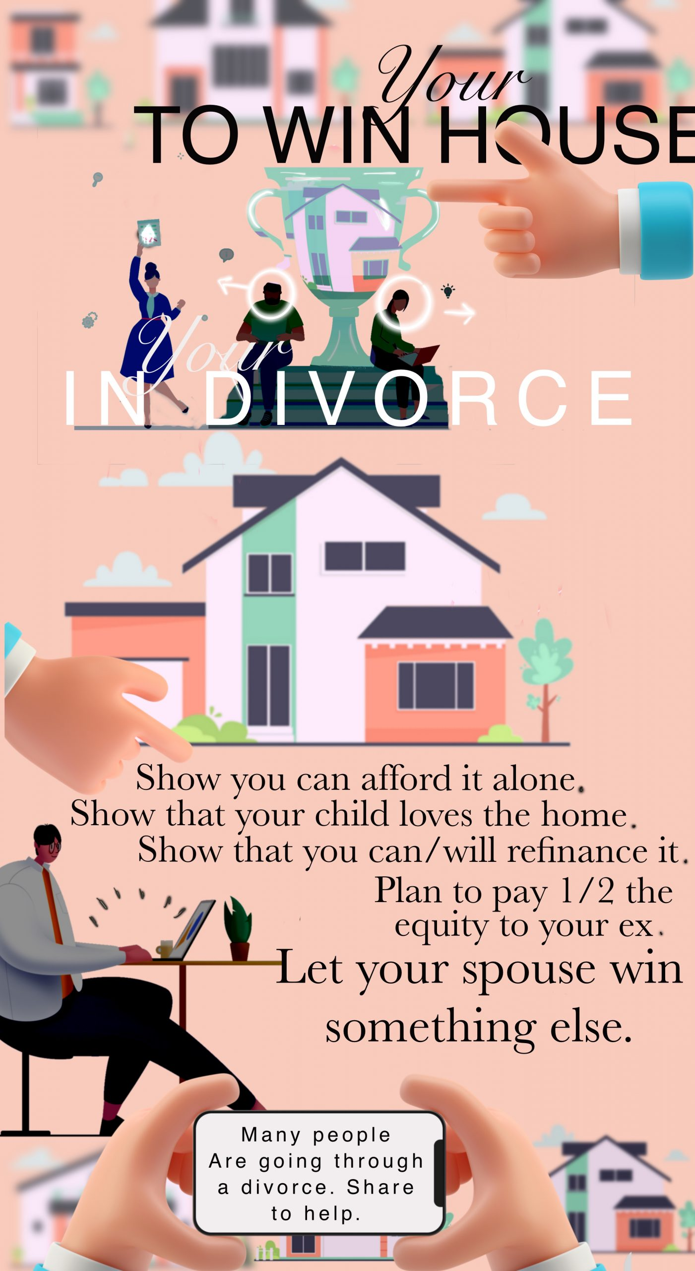 How to win the house in divorce texas infographic